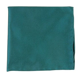 Green Teal Solid Twill pocket square