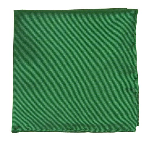 Emerald Solid Twill Pocket Square