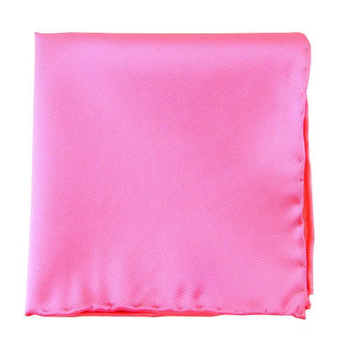 Solid Twill Pink Pocket Square