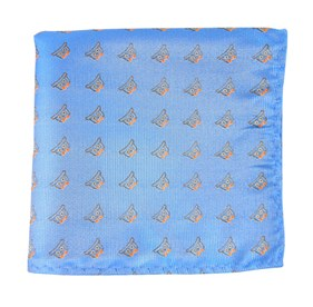 The Signature Mystic Blue pocket square