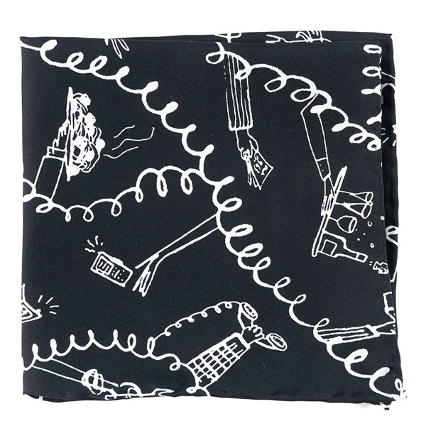 Black Fully Committed Pocket Square