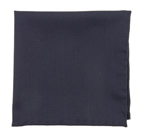 Blue Midnight Navy Herringbone pocket square
