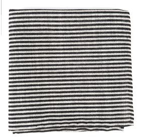 Draft Stripe Black pocket square