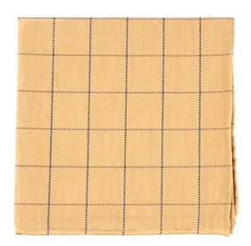 Goalpost Pane Mustard pocket square
