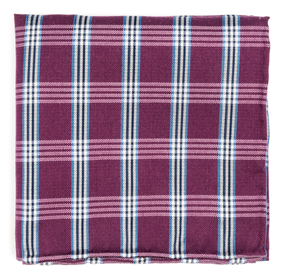 Wit Plaid Azalea pocket square