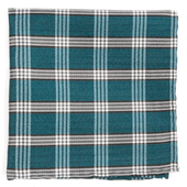 Pocket Squares - Wit Plaid - Teal