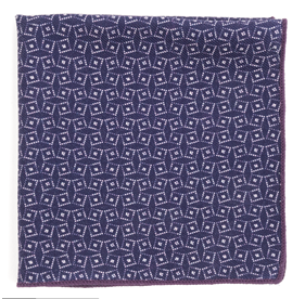 Vexed Geo Purple pocket square