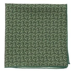 Vexed Geo Dark Clover Green pocket square