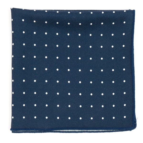 Navy Primary Dot Pocket Square