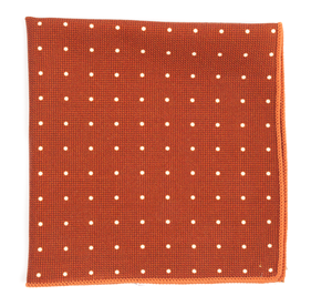 Burnt Orange Primary Dot pocket square