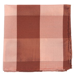 west bison plaid orange pocket square