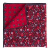 Pocket Squares - Floral Attune - Red