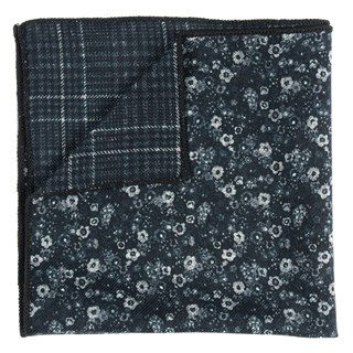 floral degree black pocket square