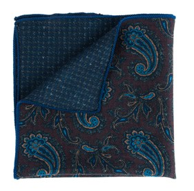 Brown Quest Tooth pocket square
