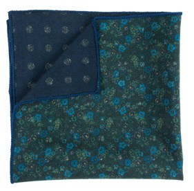 Floral Attune Green pocket square