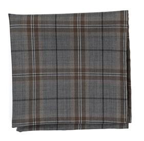 Champagne Rebel Plaid pocket square