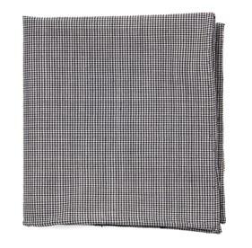 Black Infinite Checks pocket square