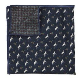 Boldrewood Woolf Navy pocket square