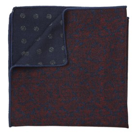 Red Kingsley Attune pocket square