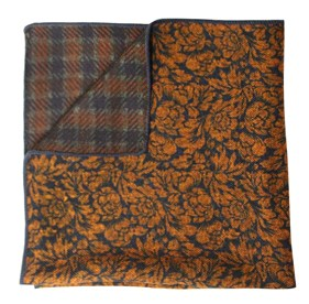 Kingsley Wentworth Orange pocket square