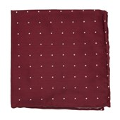 Pocket Squares - Dotted Report - Red