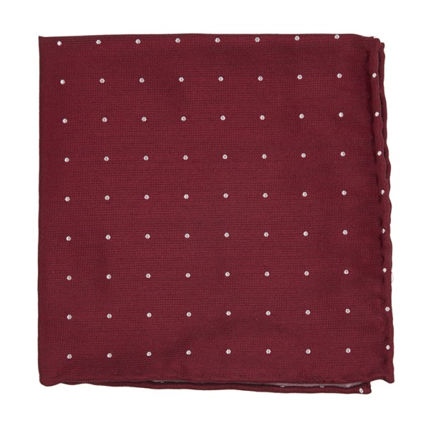 Red Dotted Report Pocket Square