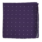 Pocket Squares - Dotted Report - Plum