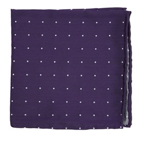 Plum Dotted Report pocket square