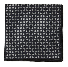 Black Pinwheel Print pocket square