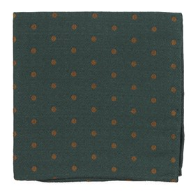 Hunter Green Dotted Hitch pocket square