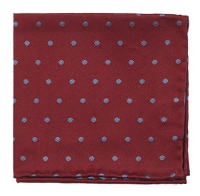 Red Dotted Hitch pocket square