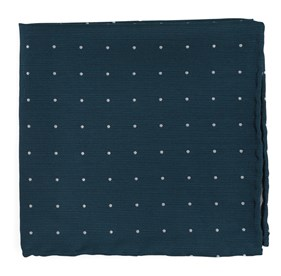 Teal Dotted Report pocket square