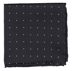 Charcoal Dotted Report pocket square