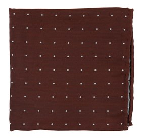 Dotted Report Burnt Orange pocket square