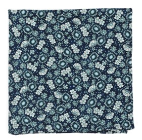 Flower City Navy pocket square
