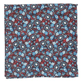 Red Flower City pocket square