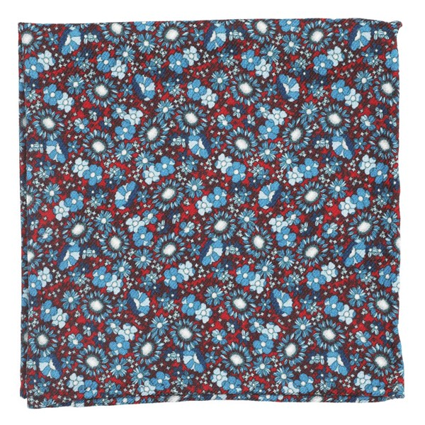 Flower City Red Pocket Square
