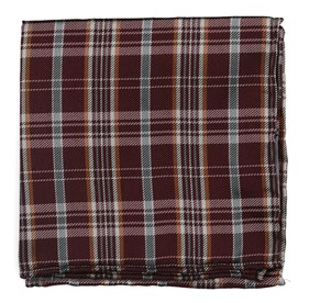 Burgundy Andersen Plaid pocket square