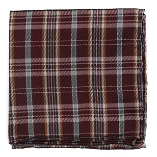 andersen plaid burgundy pocket square