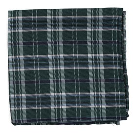 Hunter Green Andersen Plaid pocket square