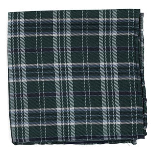 Andersen Plaid Hunter Green Pocket Square