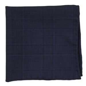 polar plaid blue pocket square