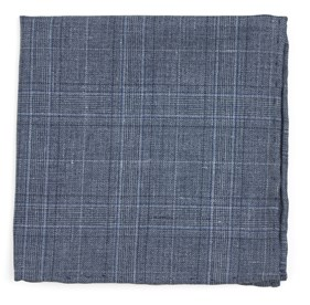 Grey Cast Plaid pocket square