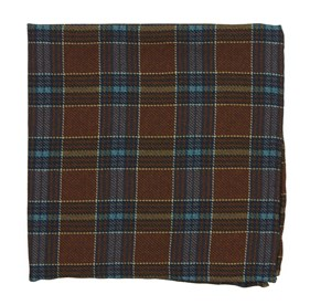 Pittsfield Plaid Burnt Orange pocket square