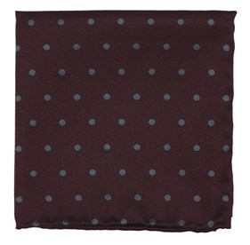 Burgundy Dotted Hitch pocket square