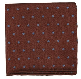 Orange Dotted Hitch pocket square