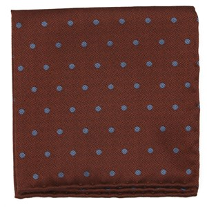 dotted hitch orange pocket square