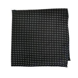 pindot black pocket square