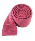 Ties - Knit Solid Wool - Pinkberry