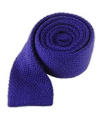 Ties - Knit Solid Wool - Royal Purple